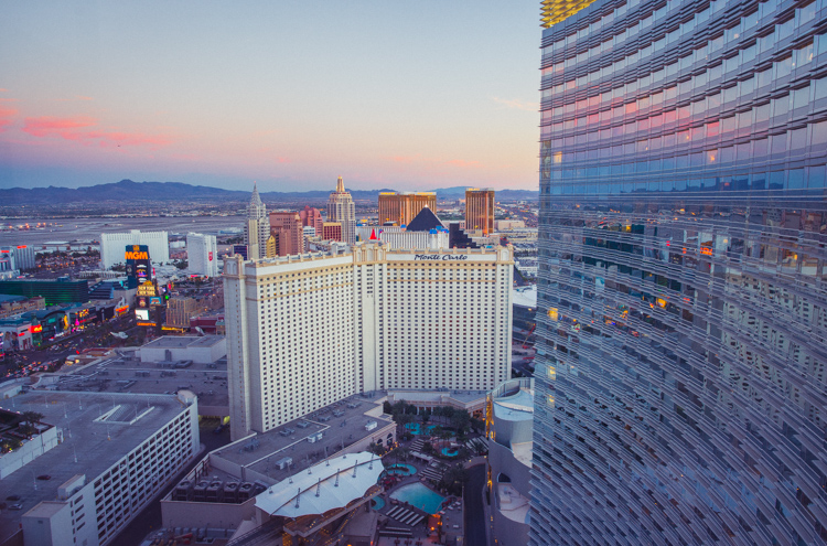 Näkymät Aria hotellista Las Vegasissa