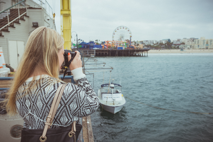 Santa Monica Pier:in kuuluisa huvipuisto